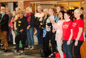 Skövde Pride 2015: Invigning (publik).