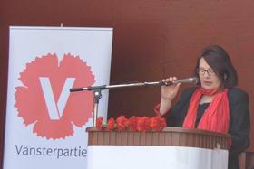 Tal och uppträdanden: Riksdagsledamoten Lotta Johnsson Fornarve.