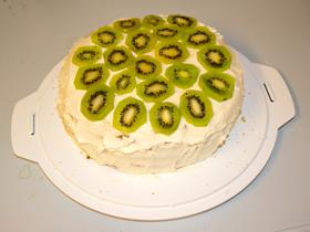 Tårta med kivi.