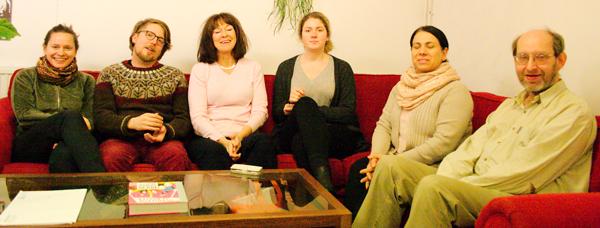 Några av deltagarna i studiecirkeln.